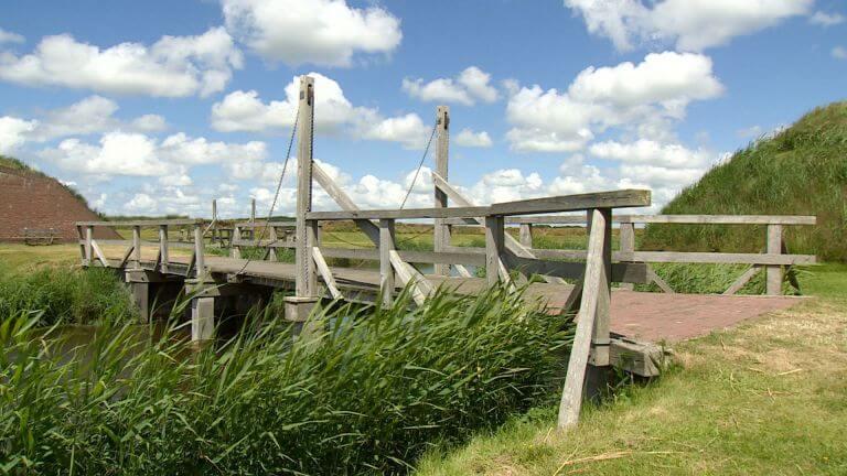 Ophaalbrug bij Fort De Schans