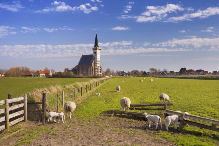 Het kerkje van Den Hoorn in de stijgers