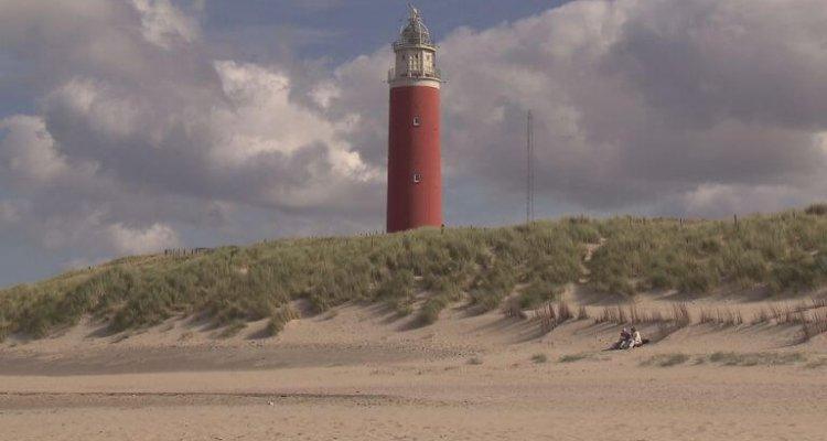Strand Texel bij vuurtoren