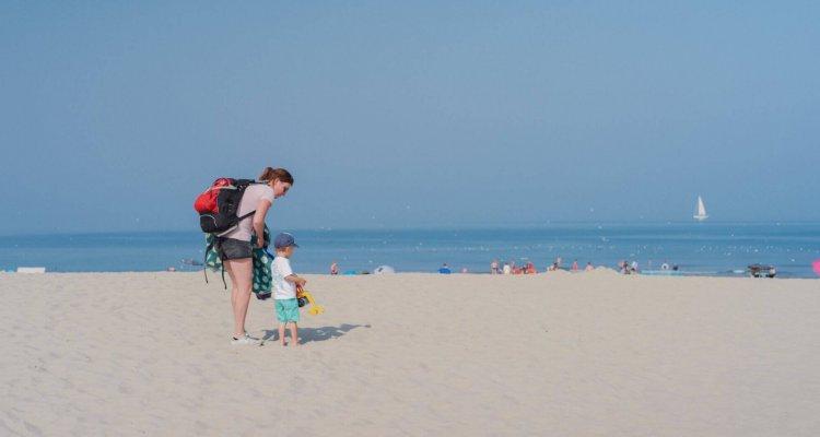 Het strand bij De Koog